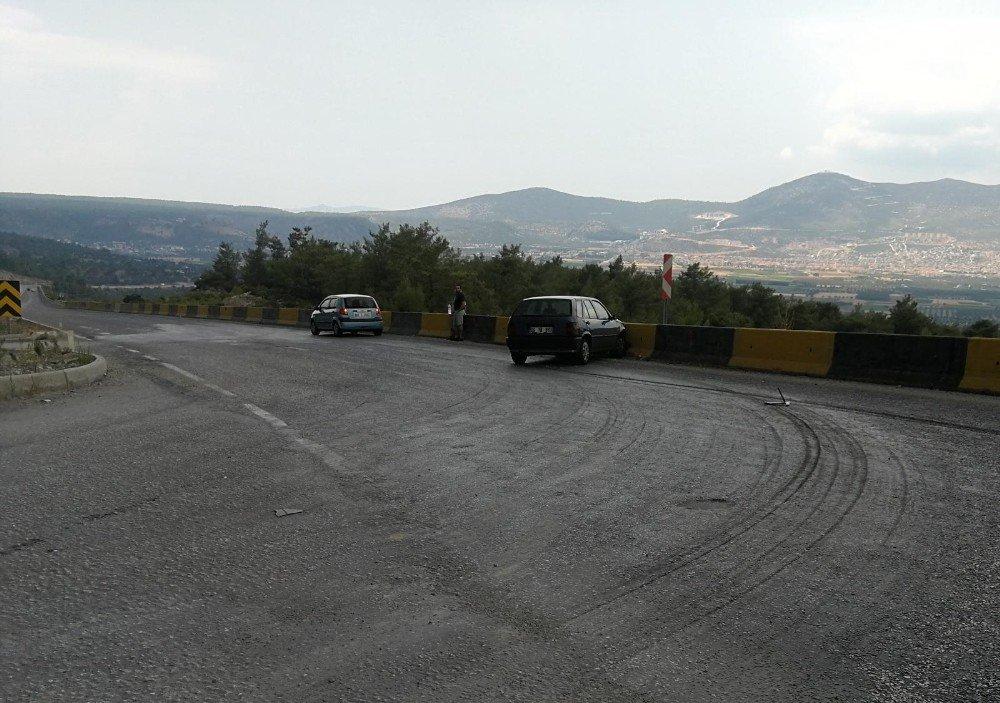 Milas'ta kaza ucuz atlatıldı