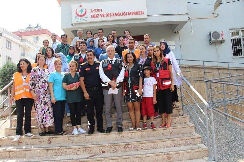Aydın Diş Hastanesinde deprem tatbikatı yapıldı