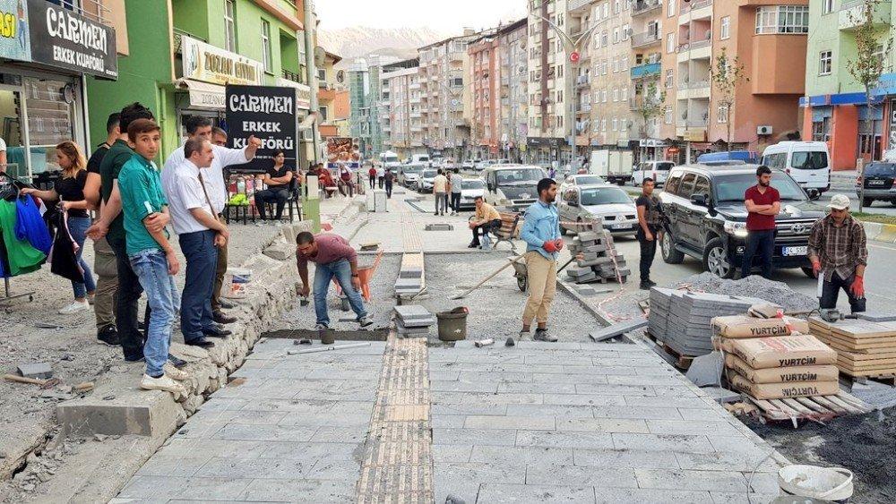 Hakkari'de 'Prestij Cadde' çalışmaları sürüyor