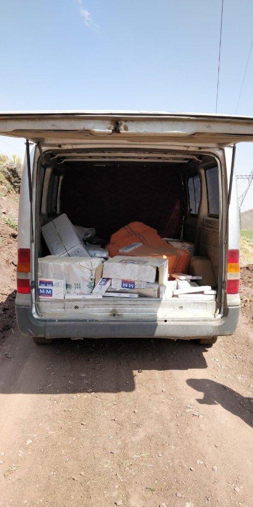 Van'da 7 bin 500 paket kaçak sigara ele geçirildi