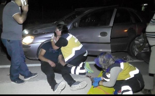 Kaza sonrası olay yerine giden hemşire gözyaşları arasında müdahale etti