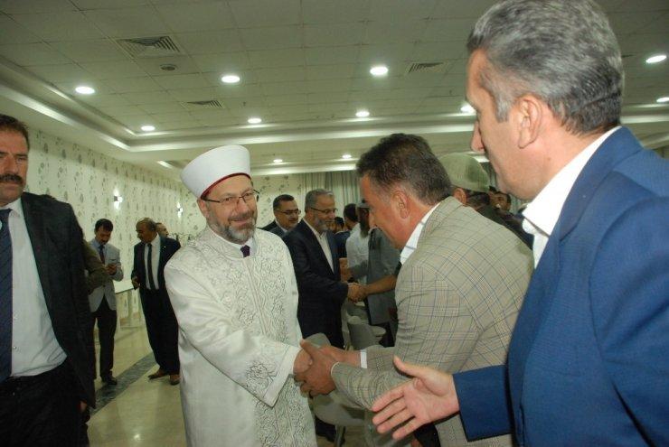 Diyanet İşleri Başkanı Erbaş, Bitlis'te kanaat önderleri ve STK'larla bir araya geldi