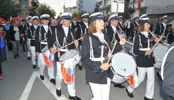 Bafra'da Cumhuriyet Yürüyüşü