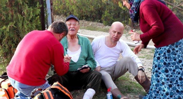 Bolu'da 2 katlı ahşap ev alev alev yandı