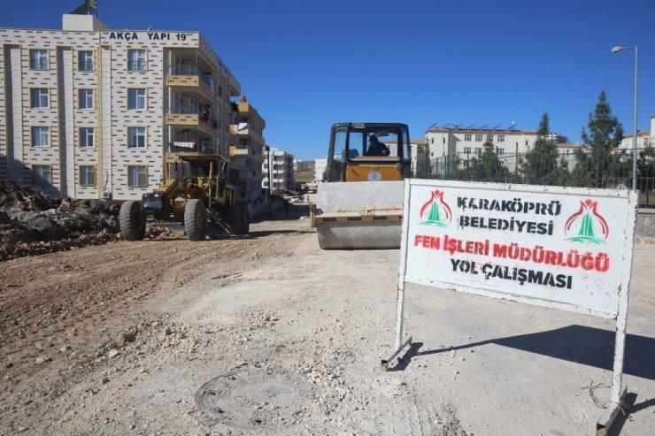 Karaköprü'de yeni yol açma çalışmaları sürüyor
