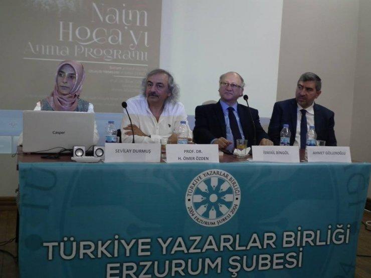 TYB Erzurum Şubesince Naim Hoca'yı anma paneli düzenledi