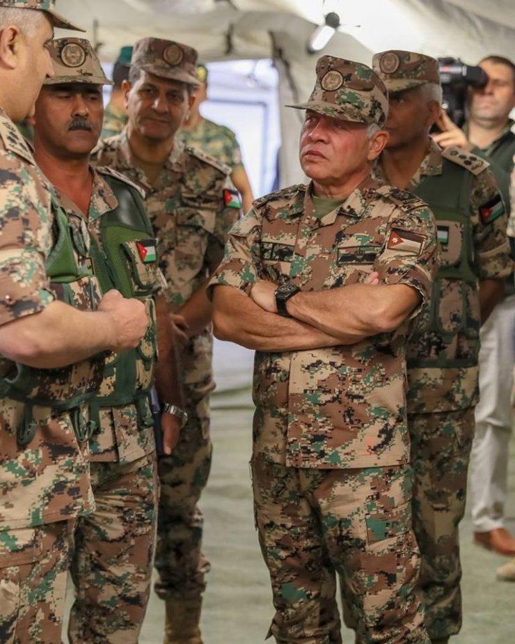 Ürdün Kralı 2. Abdullah askeri tatbikata katıldı
