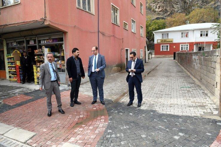 Başkan Türkmen, kaldırım çalışmaları inceledi