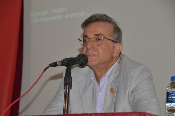 """Akseki'de """"Atatürk ve Bilim"""" Konulu konferans verildi"""