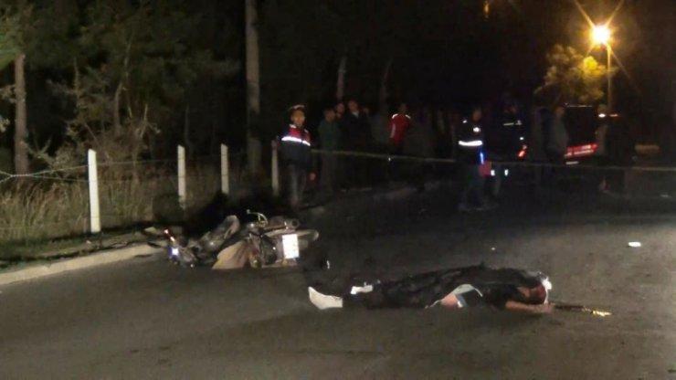 Ayvalık'ta motosiklet kazası; 1 ölü, 1 yaralı