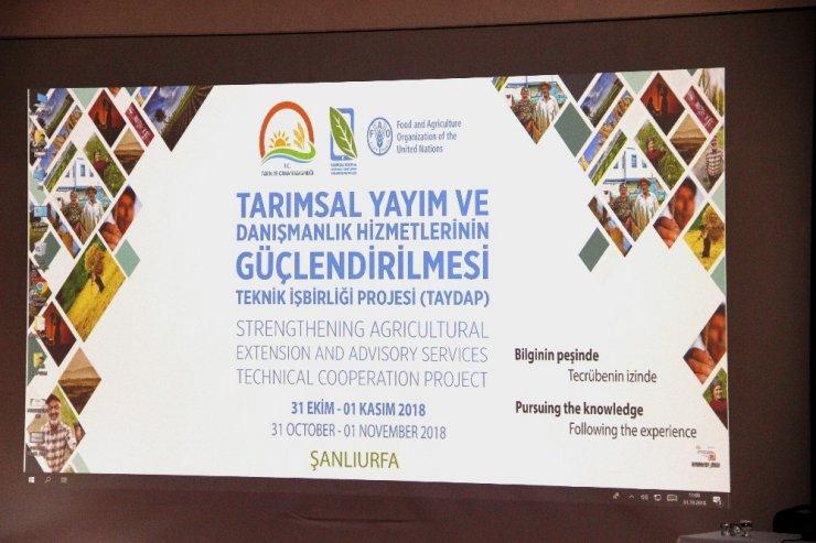 Tarımda Danışmanlık Hizmetlerinin Geliştirilmesi Projesinin açılış çalıştayı başladı