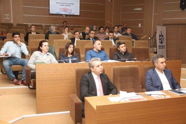 Büyükşehir Belediye personeline kalite eğitimi verildi