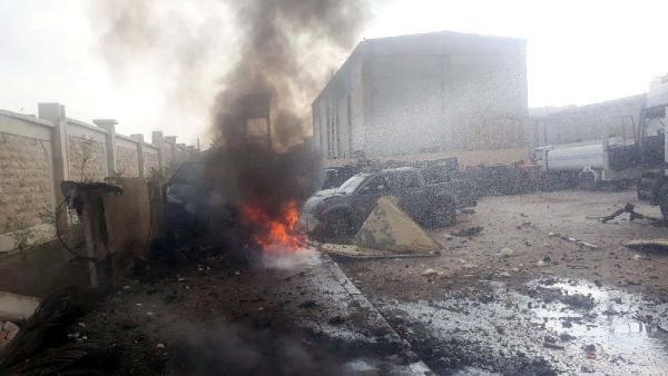 Türkiye sınırındaki Azez'de 2 noktada bombalı saldırı