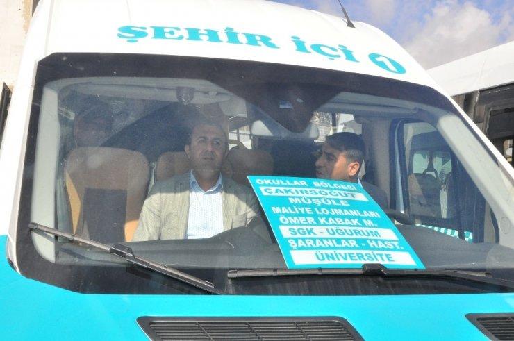 Şırnak'ta yeni şehiriçi minibüsler hizmete girdi