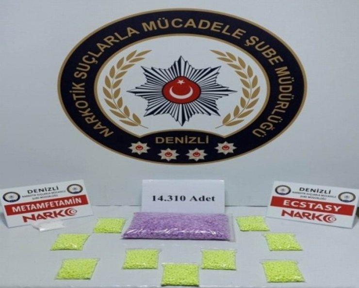 Araç koltuğundan 14 bin 310 adet uyuşturucu hap çıktı