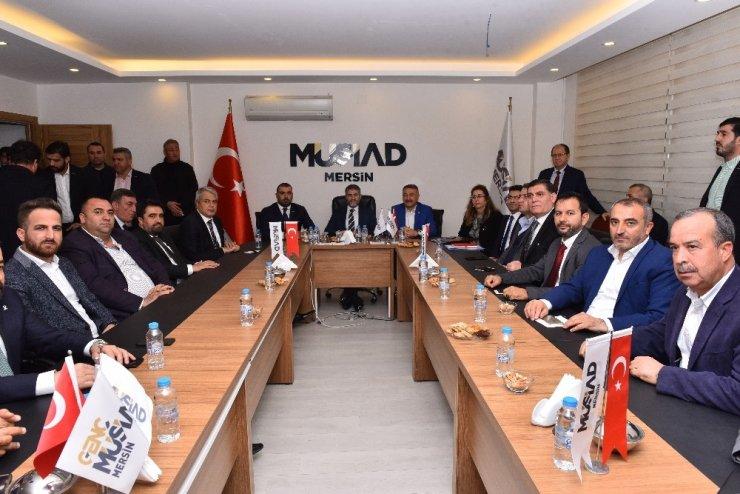 Bakan Yardımcısı Nebati, MÜSİAD Mersin Şubesi'ni ziyaret etti