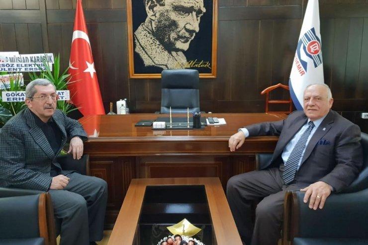 Başkan Vergili, KARDEMİR AŞ. Yönetim Kurulu Başkanı Güleç'i ziyaret etti