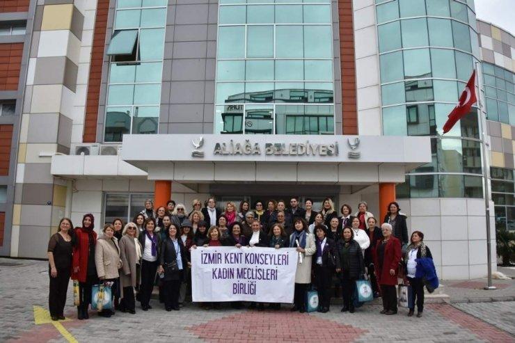 İzmir Kent Konseyleri Kadın Meclisleri Birliği Aliağa'da toplandı