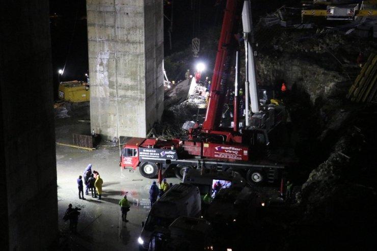 Beton blok altında kalan işçilerden 1'nin daha cansız bedenine ulaşıldı