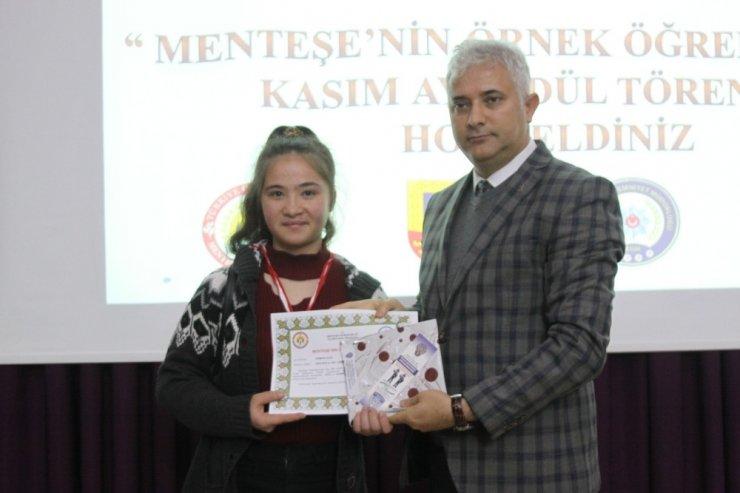 Menteşe'de örnek öğrenciler ödüllendirildi