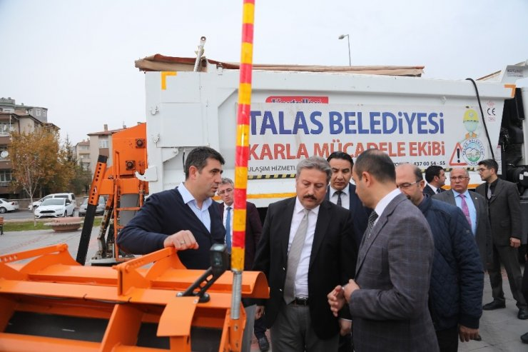 Talas'ın karla mücadelesinde yeni sistem