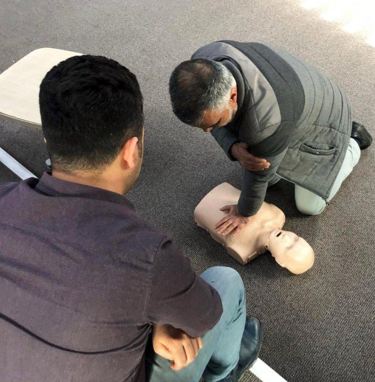 Van Büyükşehir Belediyesi personeline ilkyardım eğitim