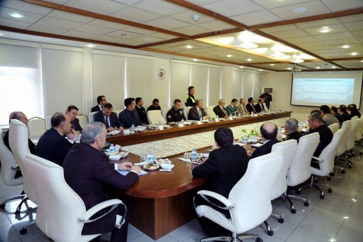 Karayolu trafik güvenliği il koordinasyon kurulu toplandı