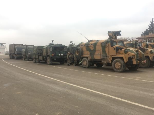Fırat Kalkanı bölgesine askeri sevkiyat