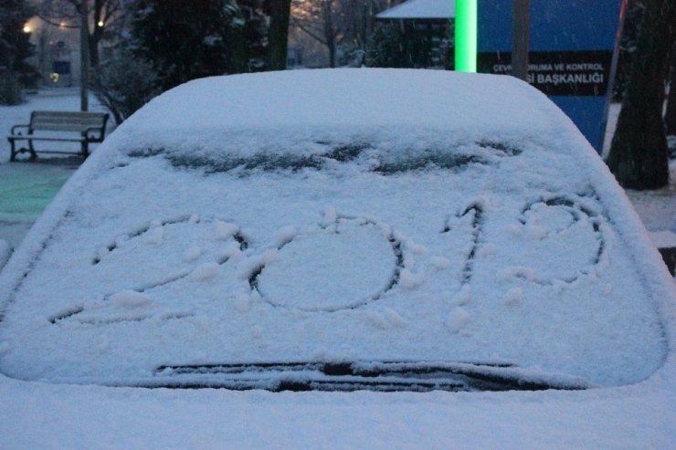 Başkente beklenen kar geldi