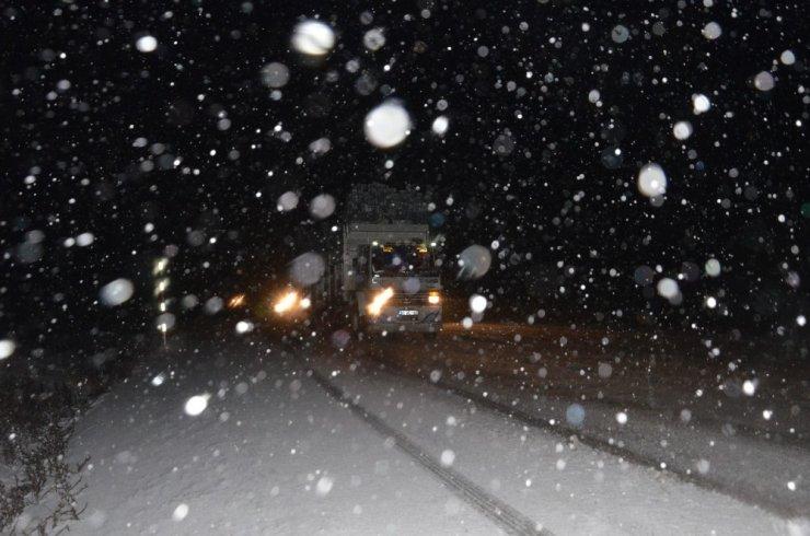 Denizli'de kar yağışı
