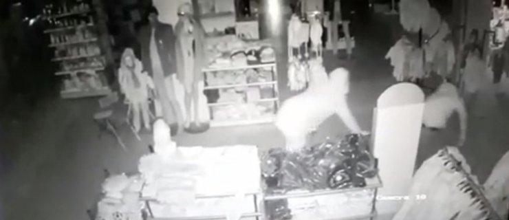 Kar maskeli çelik kasa hırsızları önce güvenlik kamerasına ardından jandarmaya yakalandı