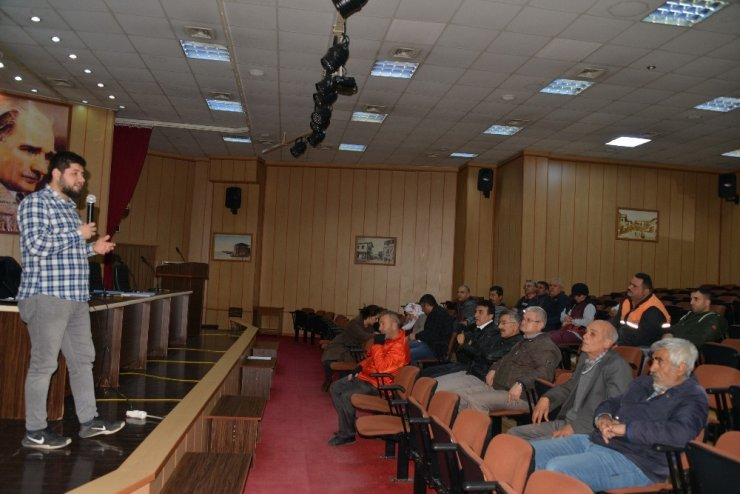 Akdeniz Belediyesi personeline iş güvenliği eğitimi
