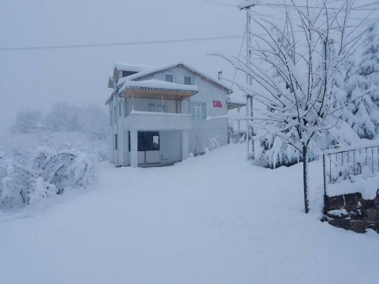 Fatsa'da kar kalınlığı 50 santime ulaştı