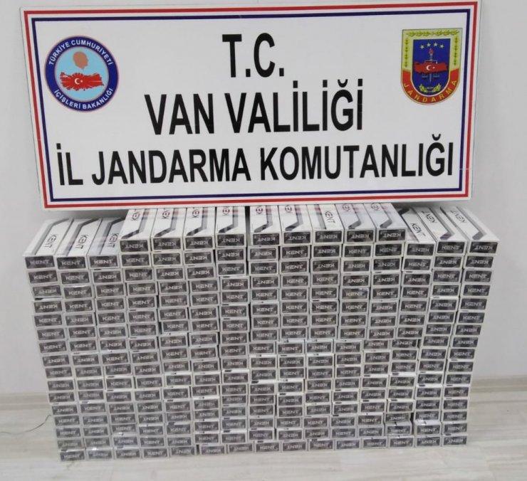 Van'da 8 bin 80 paket kaçak sigara ele geçirildi