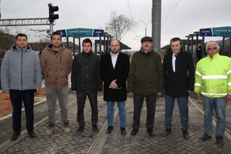 Genel Sekreter Bayram, tramvay çalışmalarını inceledi