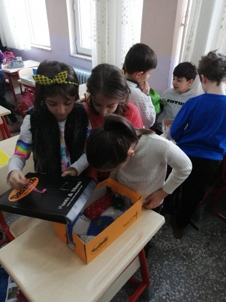 Minik öğrencilerden geri dönüşüm projesine destek