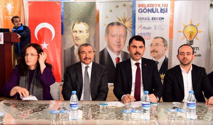 """Bakan Kurum: """"İsmail Erdem'in tüm projelerinin arkasındayız"""""""