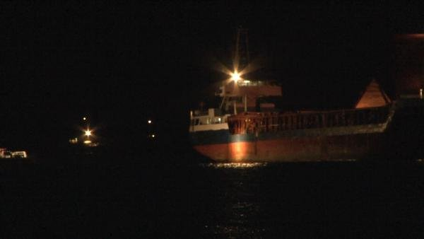 Kartal'da gemide çıkan yangını mürettebatı söndürdü