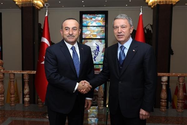 Akar ve Çavuşoğlu başkanlığında değerlendirme toplantısı yapıldı