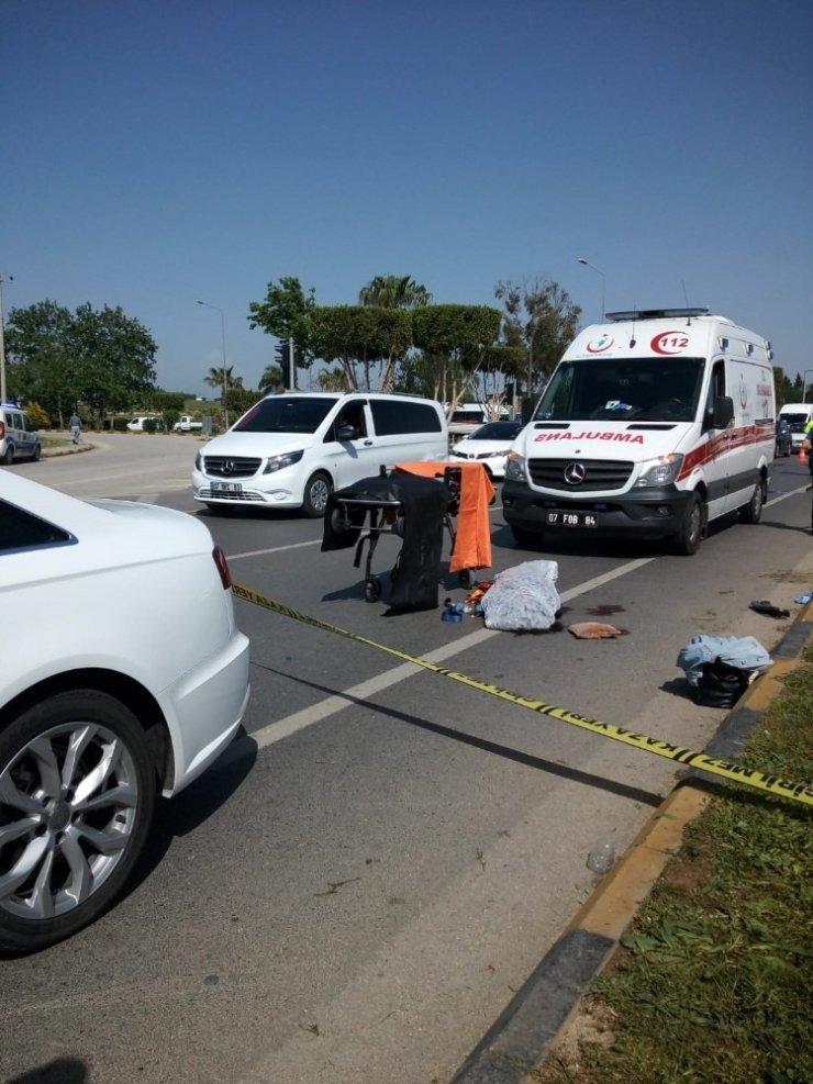 Serik'te otomobilin çarptığı yaya öldü