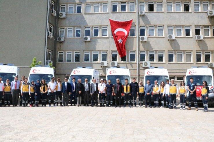 Kahramanmaraş'a tam donanımlı 7 ambulans