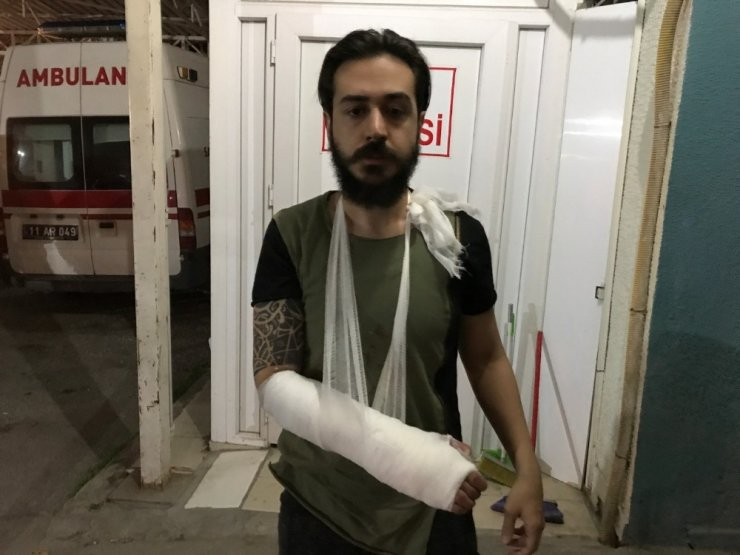 Kendisine saldıran köpekten kaçarken düştü, kolu kırıldı