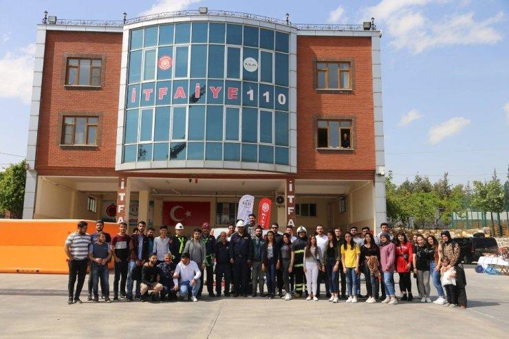 Kilis'te üniversite öğrencilerine yangın eğitimi