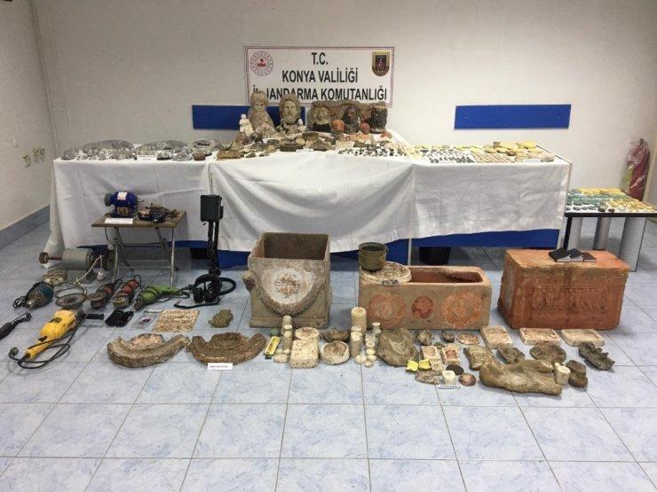 Konya'da sahte tarihi eser operasyonu: 10 gözaltı
