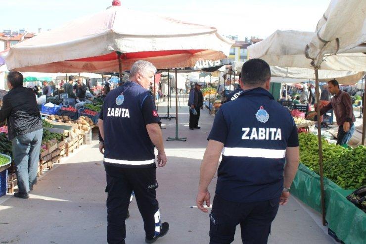 Beyşehir'de zabıtadan pazar yerinde düzenleme çalışmaları