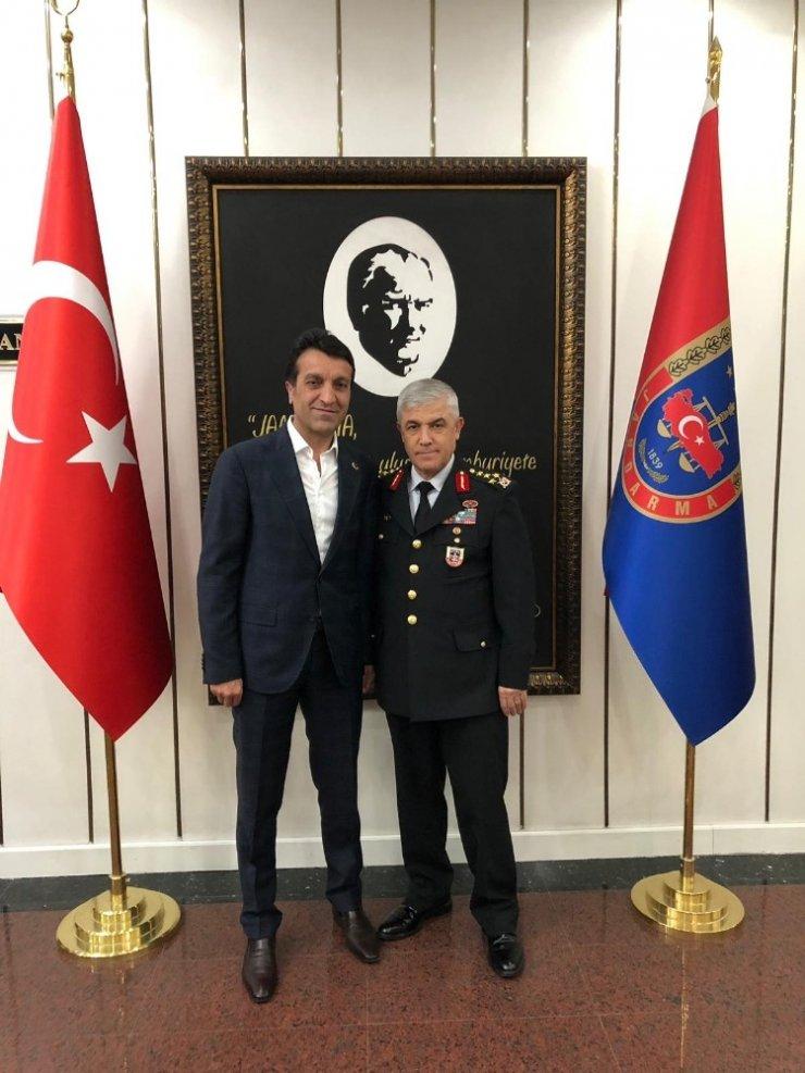 Başkan Şeylan'dan Jandarma Genel Komutanı Çetin'e ziyaret