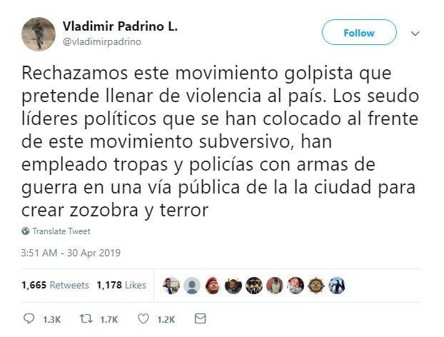 """Venezuela Savunma Bakanı: """"Ordu Maduro'yu destekliyor"""""""