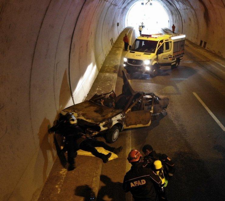 AFAD'tan Mutu Tünelinde nefes kesen tatbikat ile ilgili görsel sonucu
