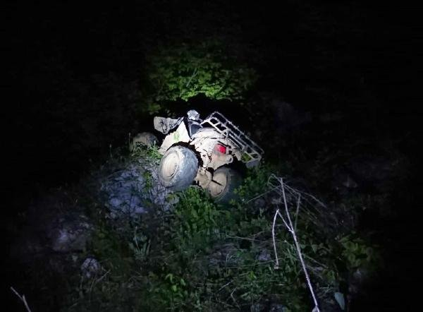 ATV ile 40 metrelik uçuruma yuvarlandılar: 1 ölü, 1 yaralı