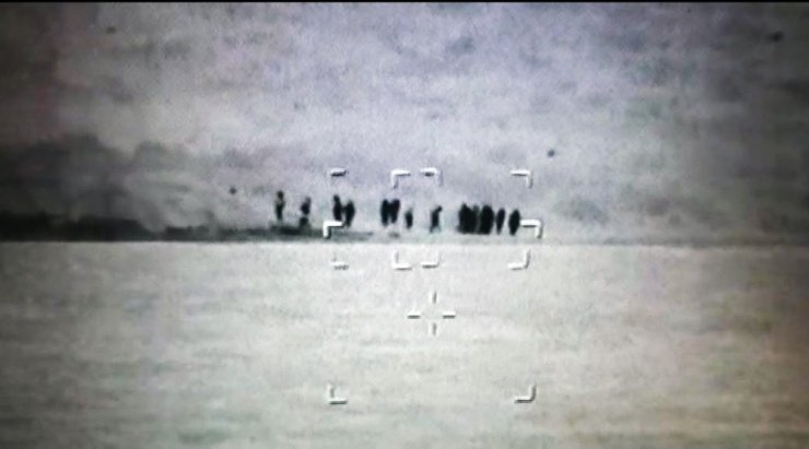 Mülteciler Termal kameraya yakalandı